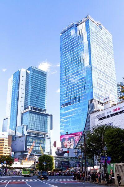 渋谷スクランブルスクエアと渋谷ヒカリエ
