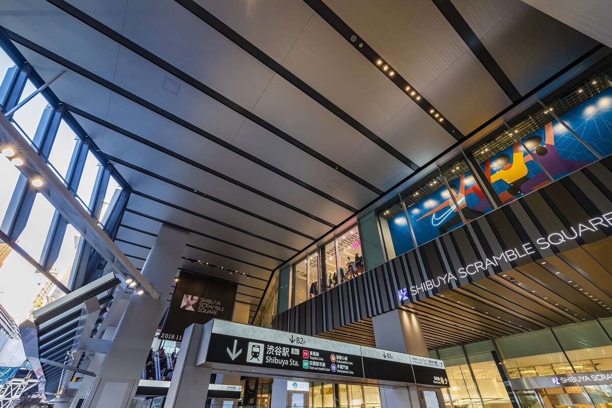 渋谷スクランブルスクエアのエントランス