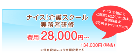 ナイス介護スクール 実務者研修資格 29,800円~134,000円